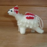 knitted llama